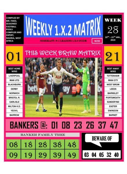 Week 28 Weekly 1.X.2 Matrix - Page 1