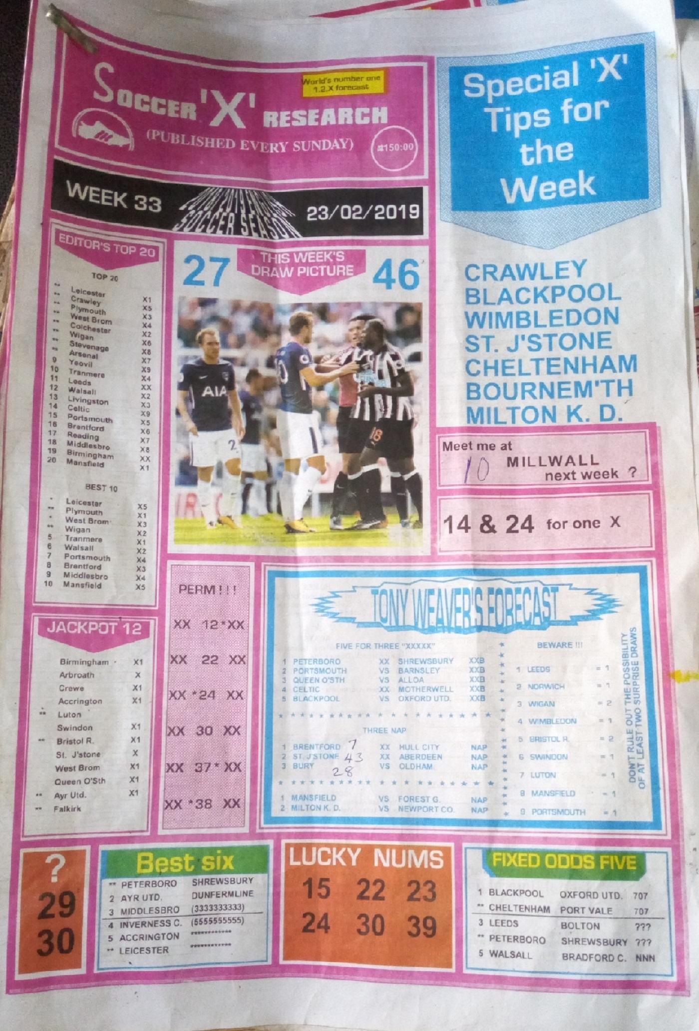 Week 33 Soccer X Pg1 UK Football Plus