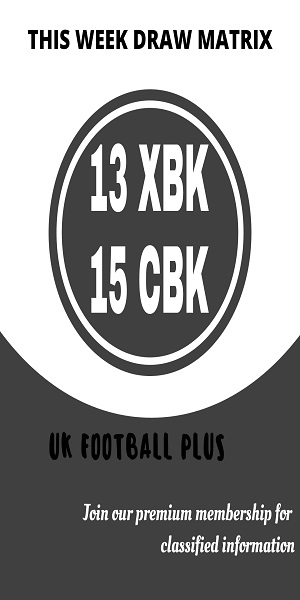 Week 33 football pools draw matrix (UK Football Plus)